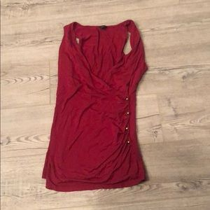 Red Ann Taylor Top Size MP